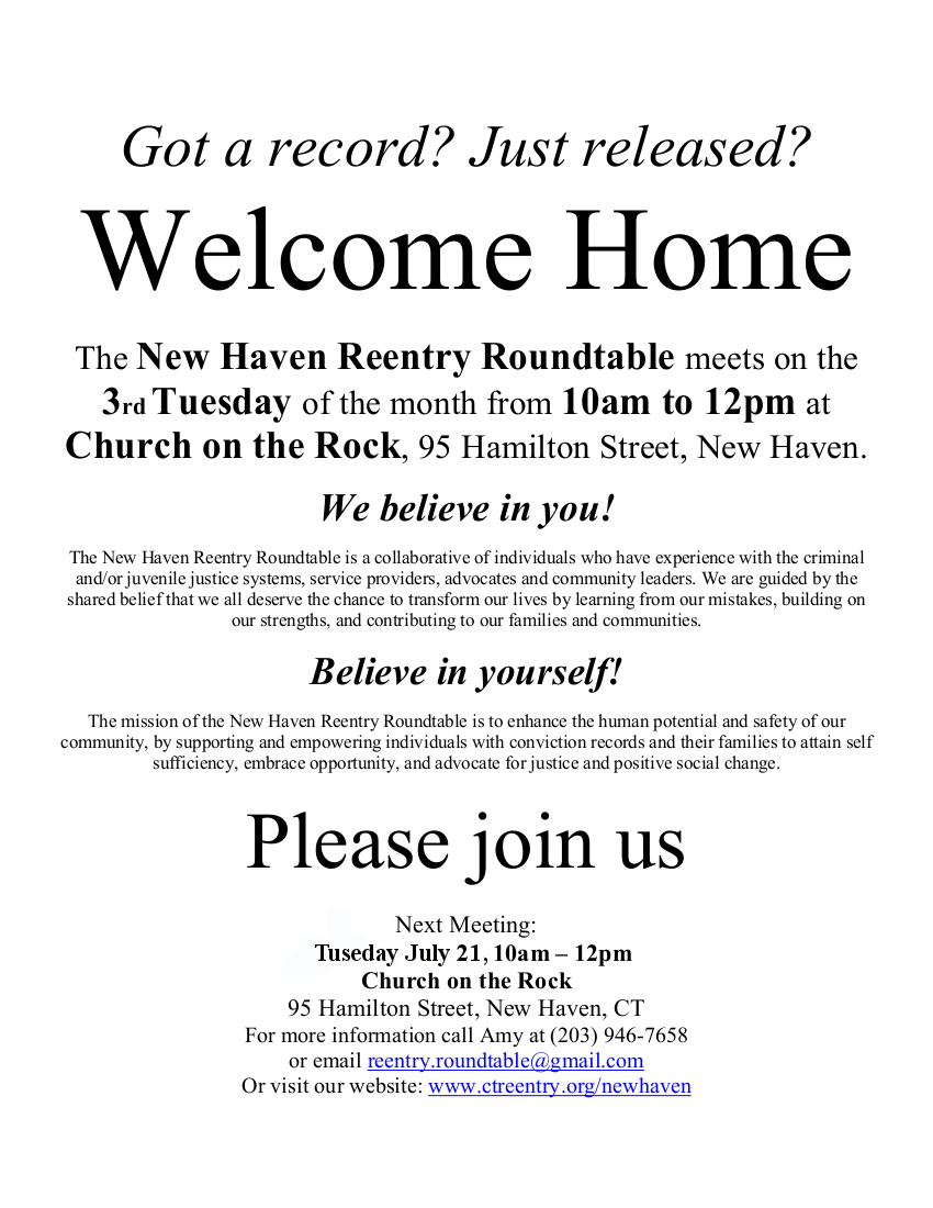 New Haven Reentry Roundtable